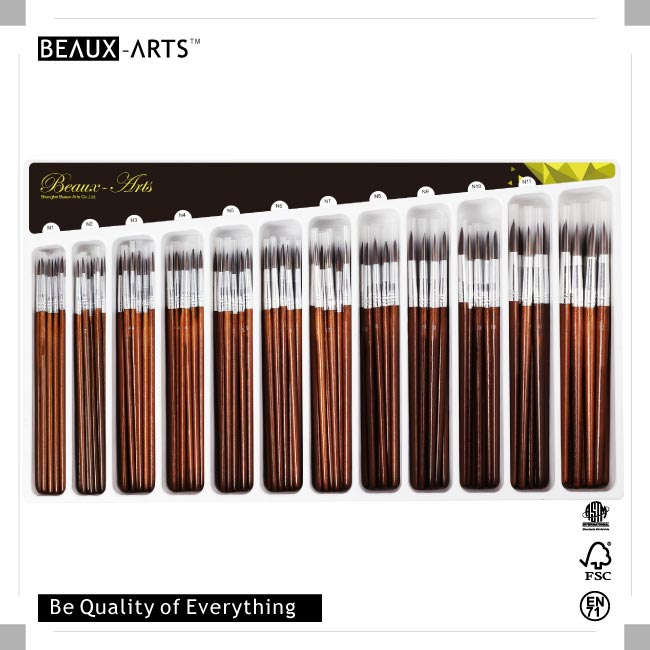 228pcs Wholesale Watercolor Artist Brush with Pony Hair