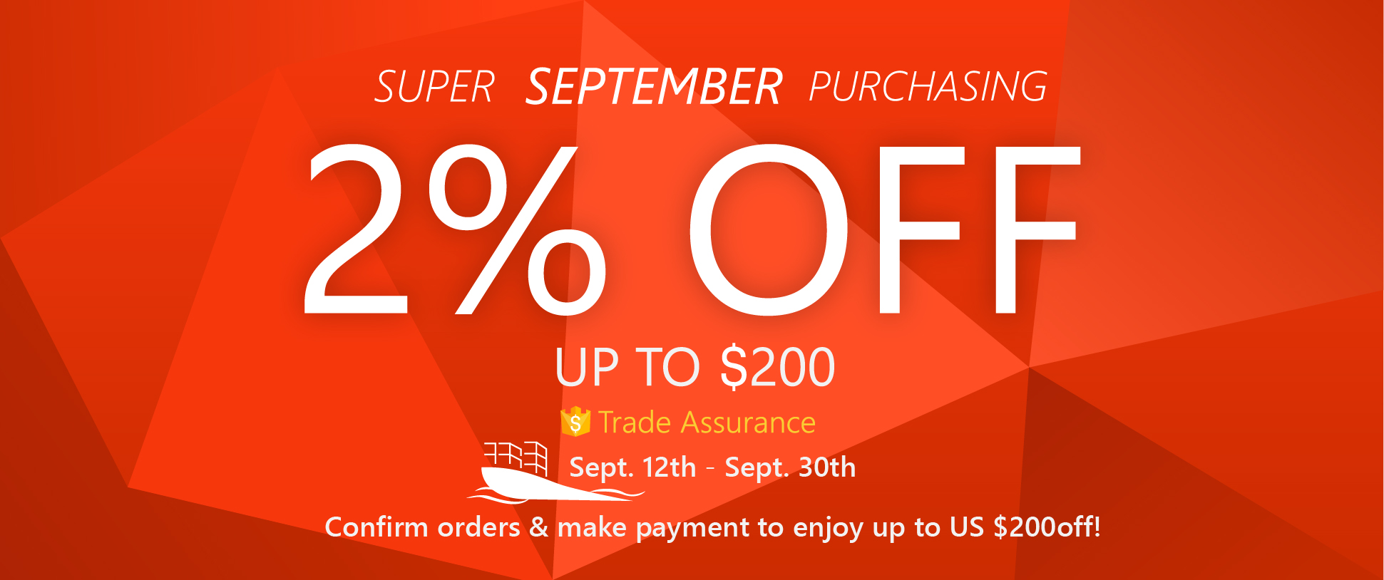 Promotion of September: Alibaba Super September Purchasing!
